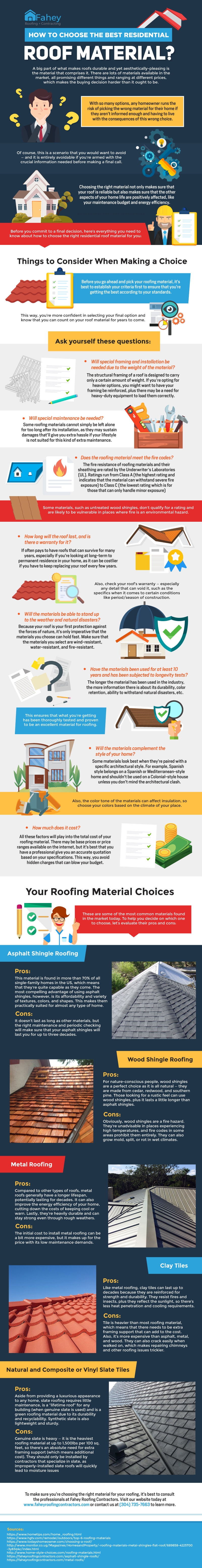 Pointers on How to Make the Right Choice for Roofing Material - Infographic
