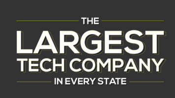 The State-Wise Map of Top Tech US Companies - Infographic