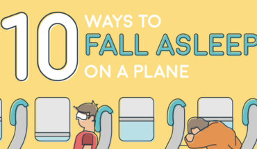 10 Methods to Help You Sleep Comfortably on a Plane - Infographic