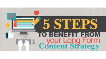 How to Build a Hard-Hitting and Effective Long Content Strategy: 5 Simple Steps - Infographic