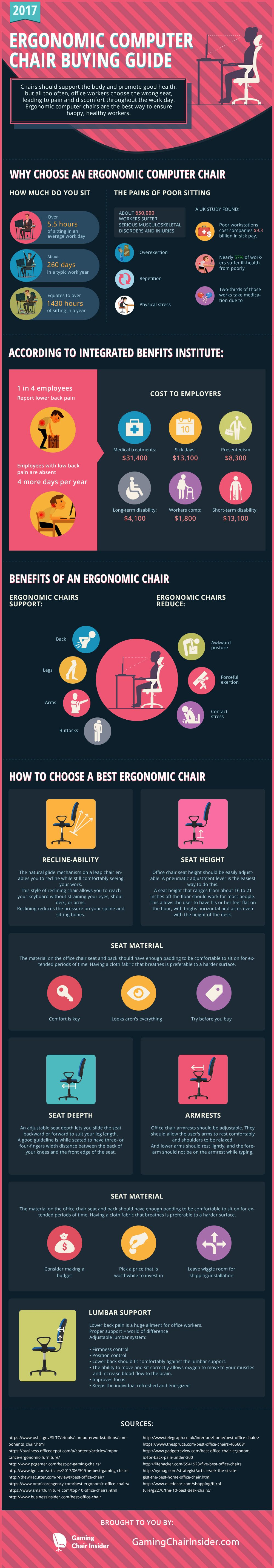 How to Choose the Best Ergonomic Computer Chair - Infographic
