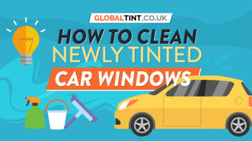 Just Got Your Car Windows Newly Tinted? Your Guide to Cleaning Them - Infographic