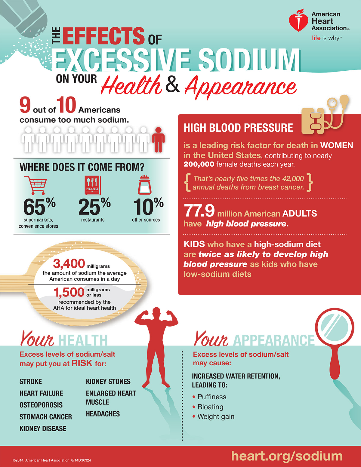 The Disastrous Consequences of Excess Sodium in Your Diet - Infographic