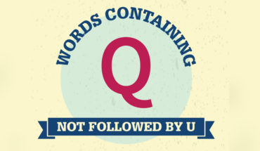 The Language It Is a'Changin: Q Words Not Followed by the Mandatory U! - Infographic