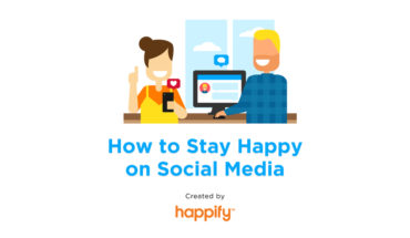 The Social Media Route to Staying Happy - Infographic
