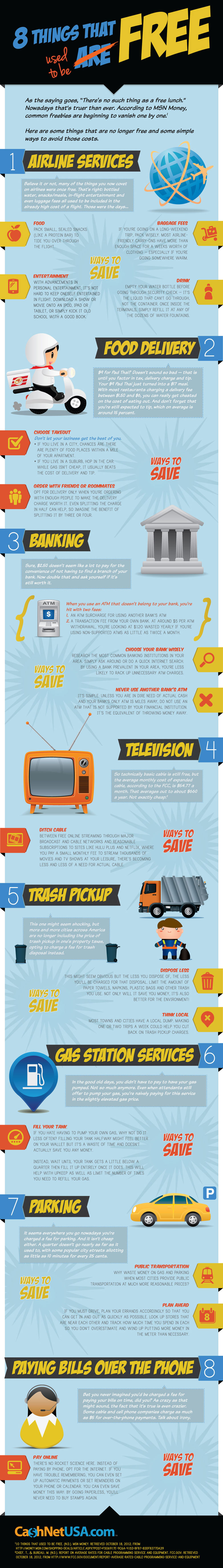 8 Freebies You Took for Granted that have Disappeared! - Infographic
