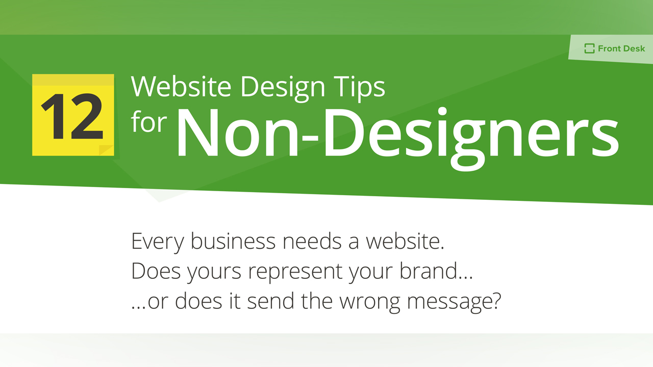 How a Non-Designer Can Design a Great Website: 12 Proven Design Tips - Infographic