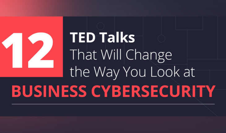 How to Tame the Cybercrime Monster: 12 Inspirational TED Talks on Business Cybersecurity - Infographic