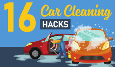 16 Cleaning Hacks for a Sparkling-Clean Car - Infographic
