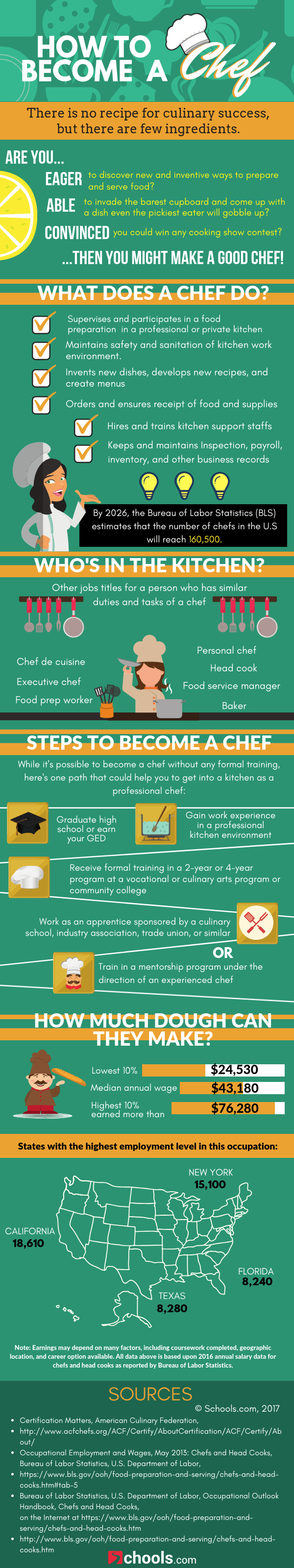 Chef-in-Waiting? The Route to Becoming a Professional Chef - Infographic