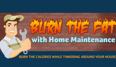 How to Burn Fat While Fixing Your Home - Infographic