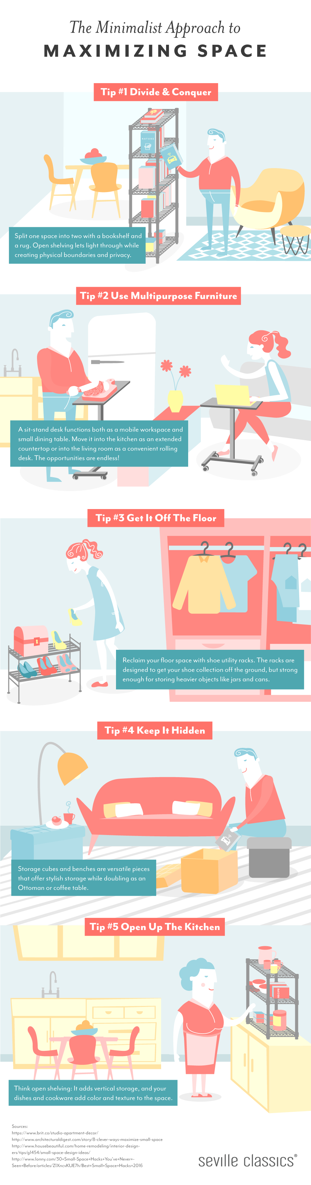 How to Maximize Space by Minimizing Storage Area! - Infographic