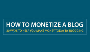 30 Ways to Earn Money from Your Free Blogging Site with WordPress - Infographic