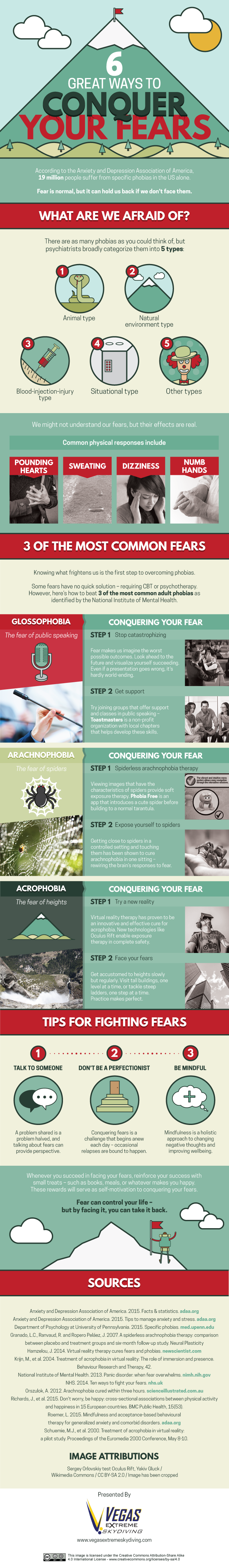 Beat Your Fears: 6 Great Ways How - Infographic