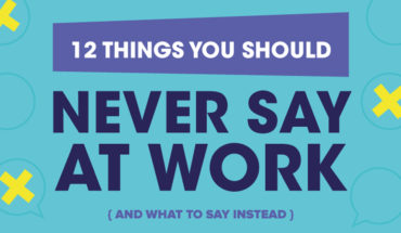 Think Before You Speak: What to Say and Not Say in the Workplace - Infographic