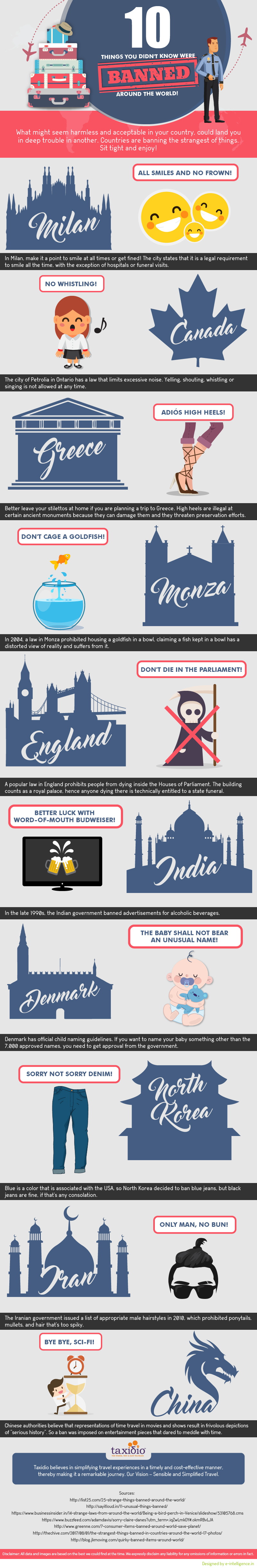 10 of the Weirdest Bans Around the World - Infographic