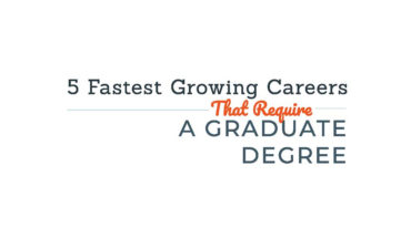 5 Careers that Require a Graduate Degree and Give Way-Above-Average Salaries - Infographic