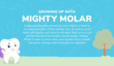 Building Healthy Tooth Habits from Childhood: Mighty Molar Show You How - Infographic