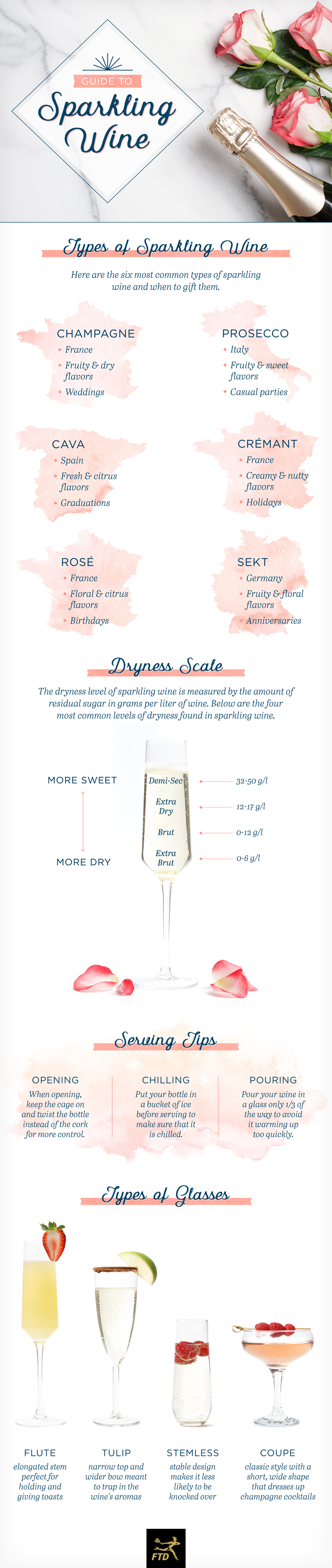 Happy Hoppy Bubbles: Popular Guide to Sparkling Wine - Infographic