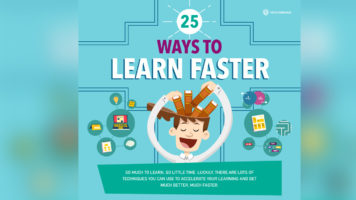 So Much to Learn So Little Time: 25 Brain Hacks that Enable Faster Learning - Infographic