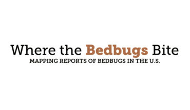 The Map of USA, According to Bed Bugs - Infographic