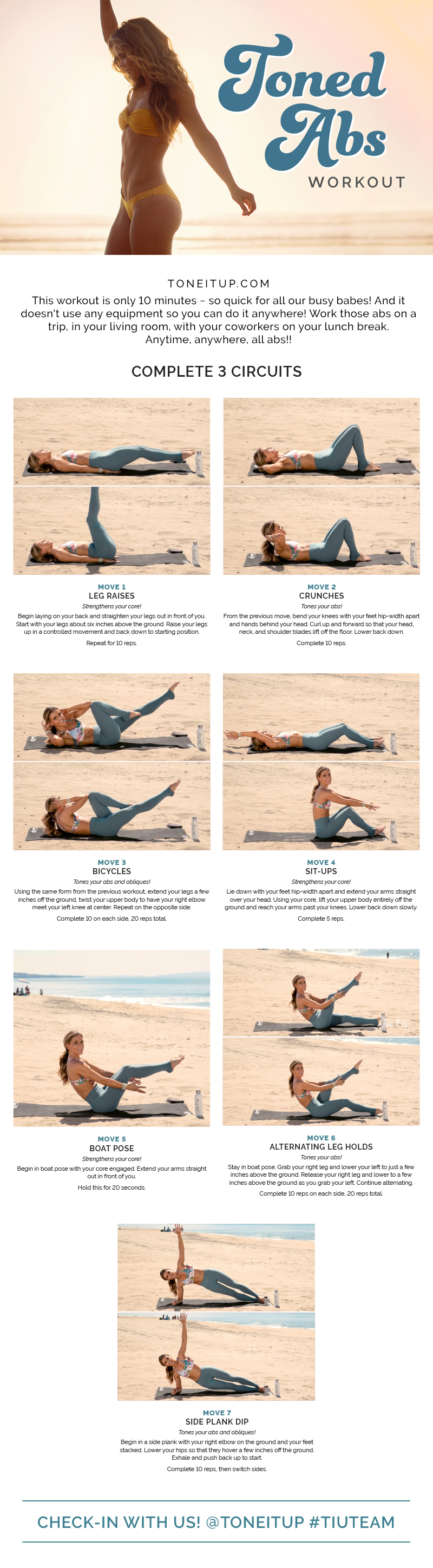 10-Minute Route to a Mean Machine Body - Infographic