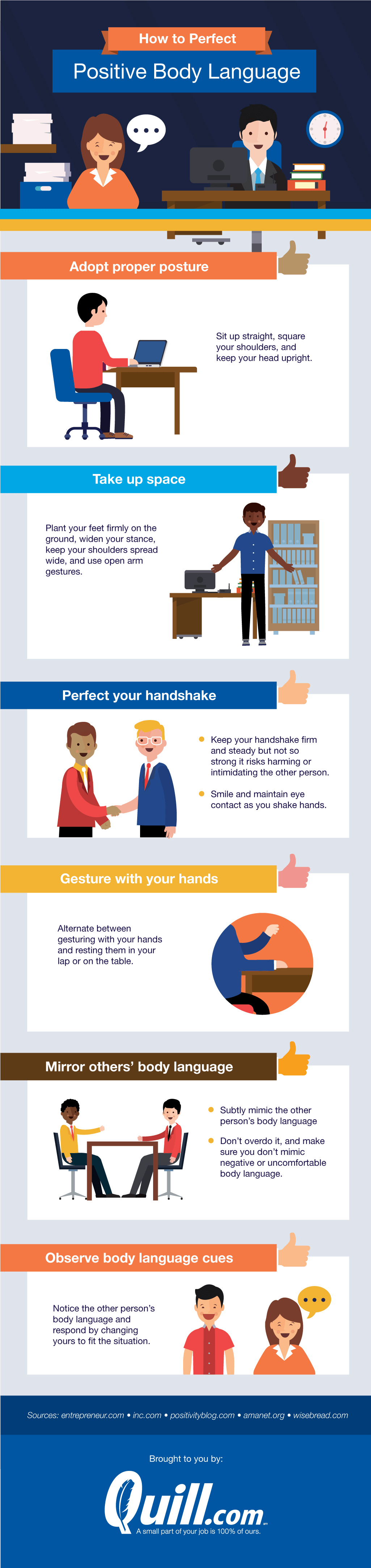 How Positive Body Language Creates Positive Workspaces - Infographic