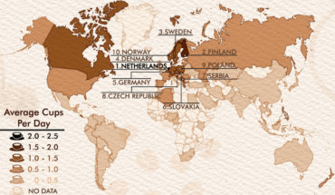 Setting Coffee Consumption Records: Which Countries Drink It the Most! - Infographic