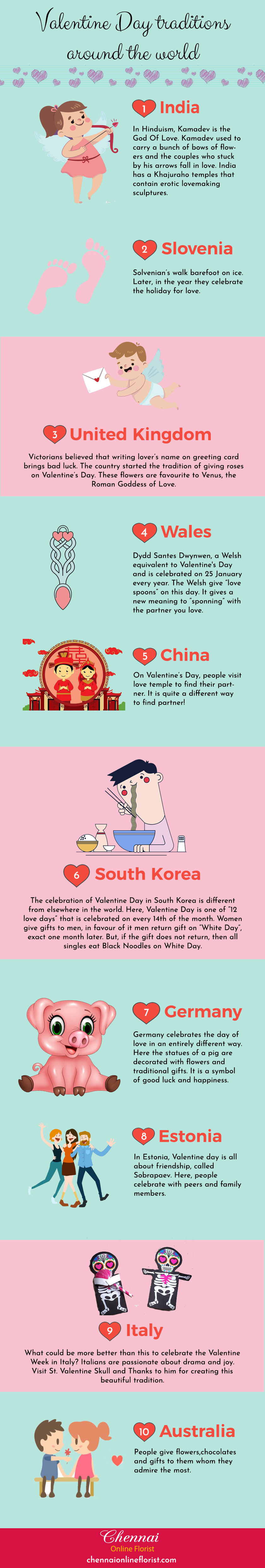 Valentine's Day Around the World: Celebrations and Superstitions - Infographic