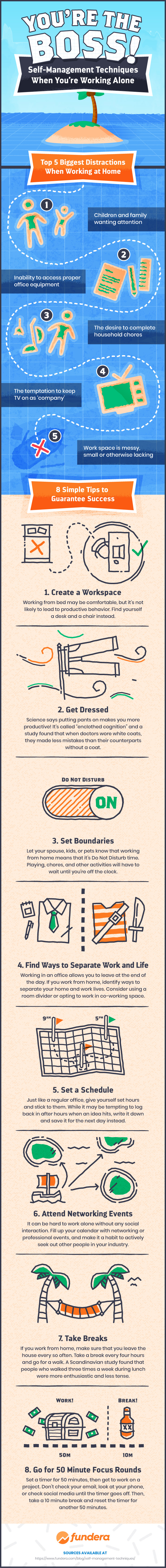Working Out of Home? How to Set Boundaries and Stay Focused and Motivated - Infographic