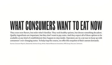 Are Tastes Changing? Consumer Food Trends - Infographic