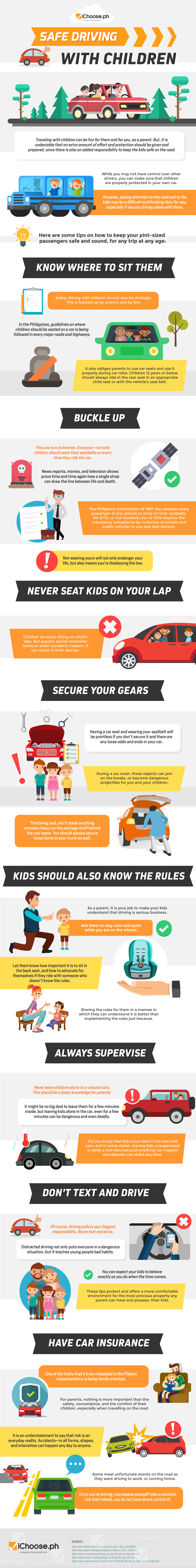 Drive Safe: For Your Children's Sake! - Infographic