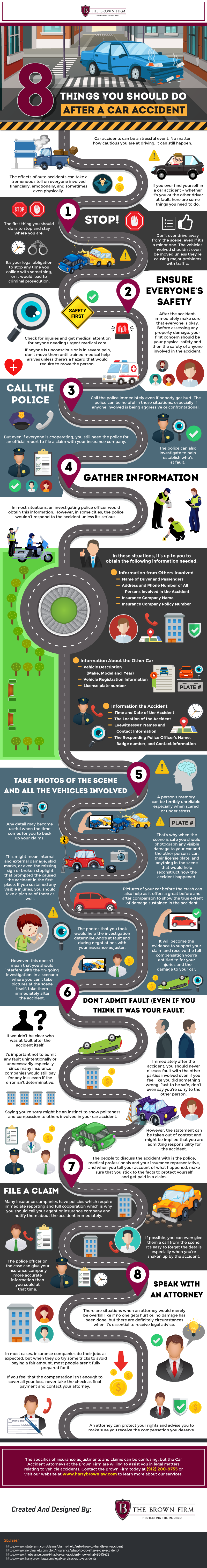 What to Do After a Car Accident: The 8-Step Guide to Avoid Problems - Infographic