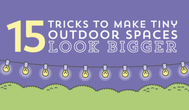 15 Ideas to Visually Expand Small Outdoor Spaces - Infographic