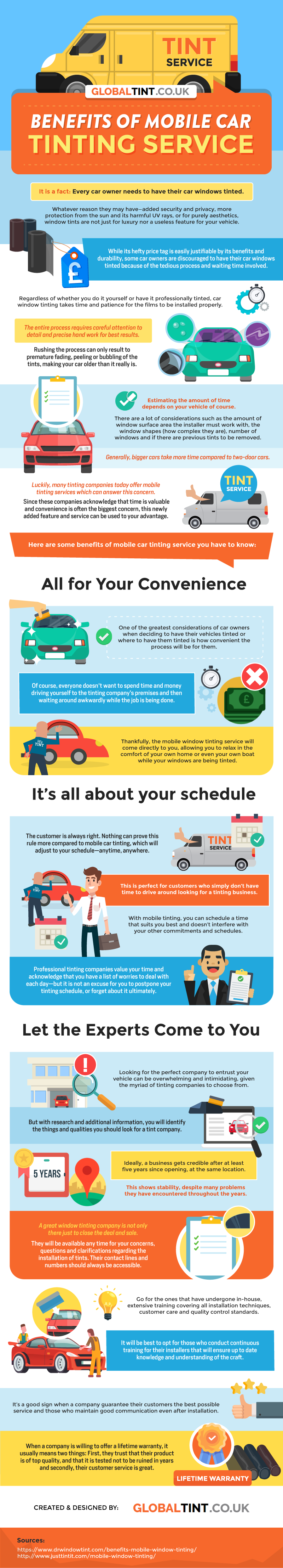 Benefits Of Mobile Car Tinting Service - Infographic