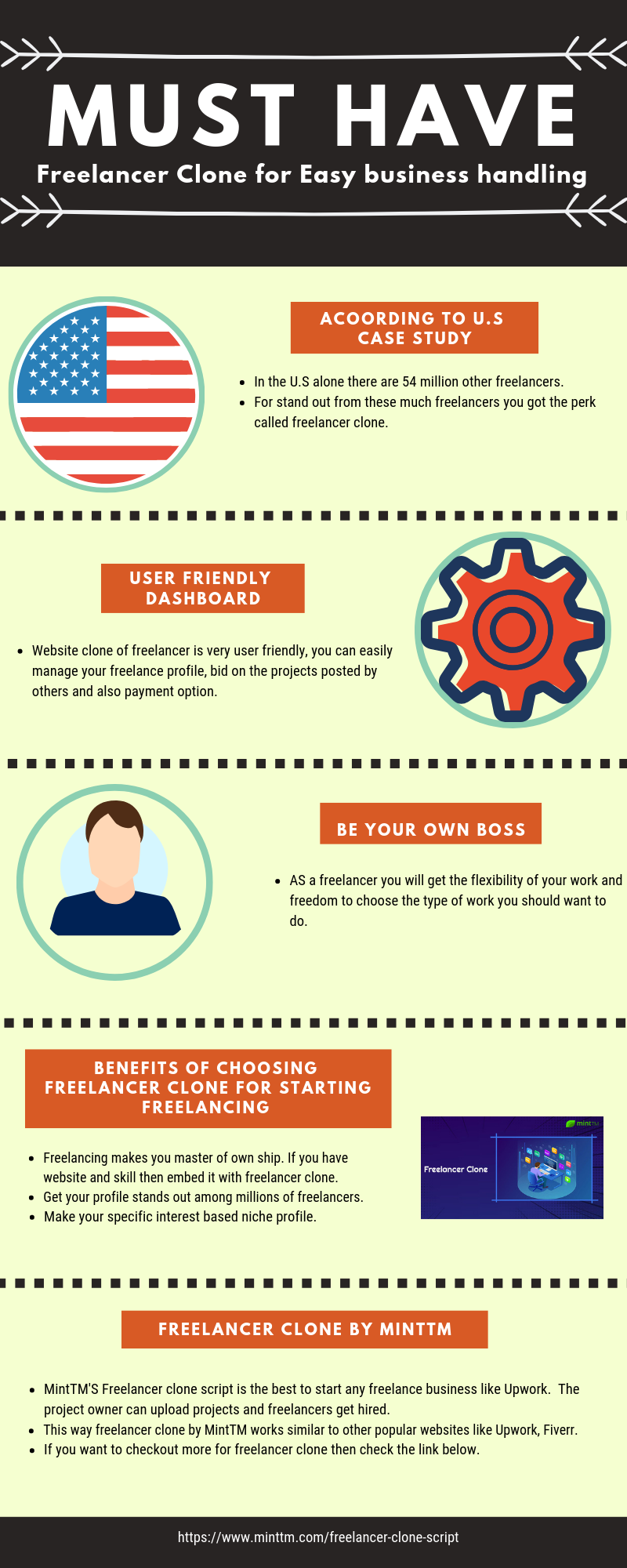 Freelancer Clone: How Freelancers Can Build their Advantage - Infographic