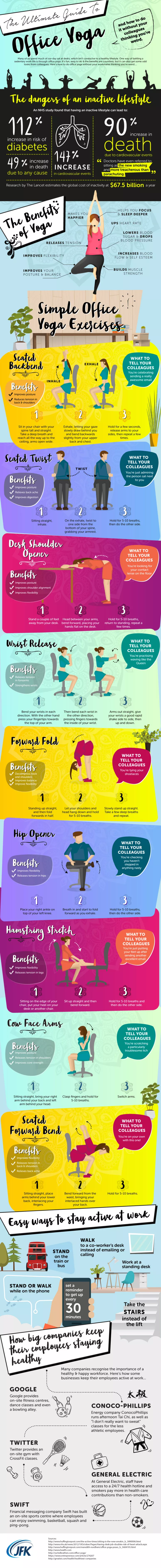 Practice Yoga in Office - the Fun Way! - Infographic