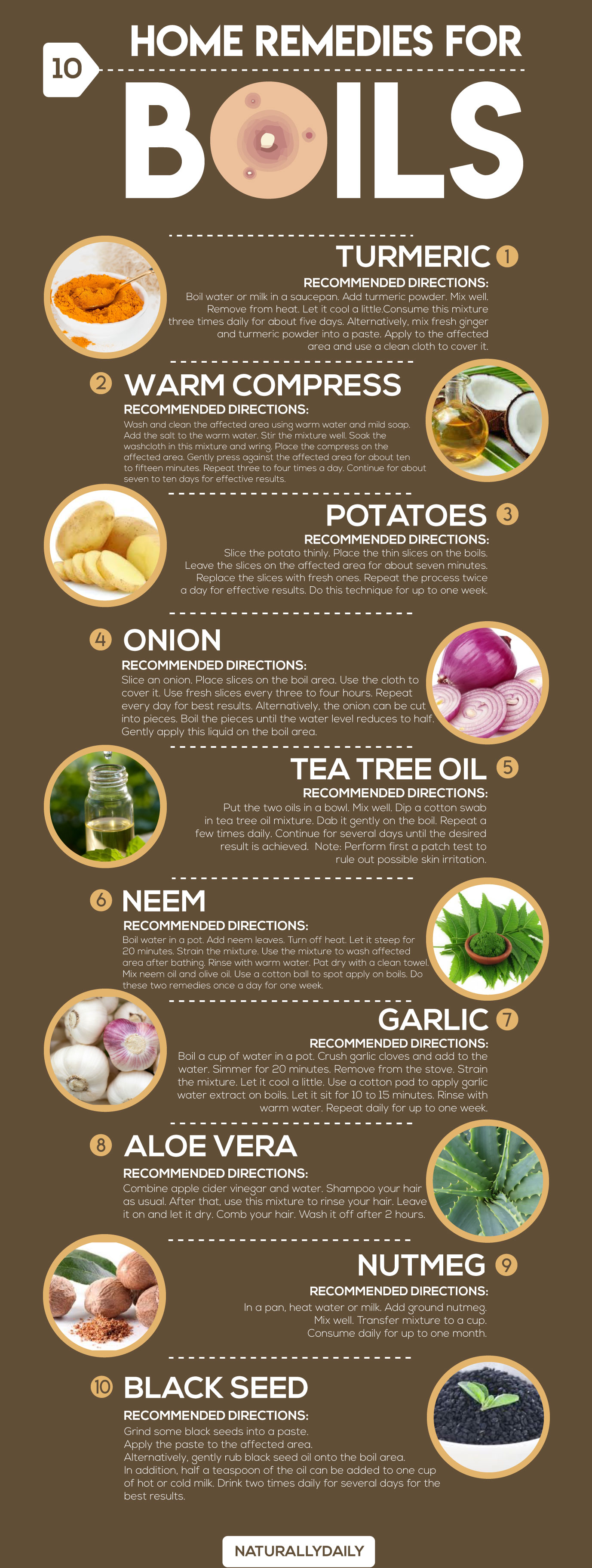 Remedies for Boils in Your Kitchen Cupboard! - Infographic