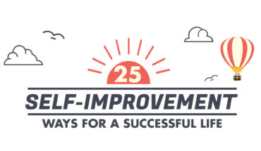 How to Become a Better Version of Yourself: 25 Self-Improvement Tips - Infographic