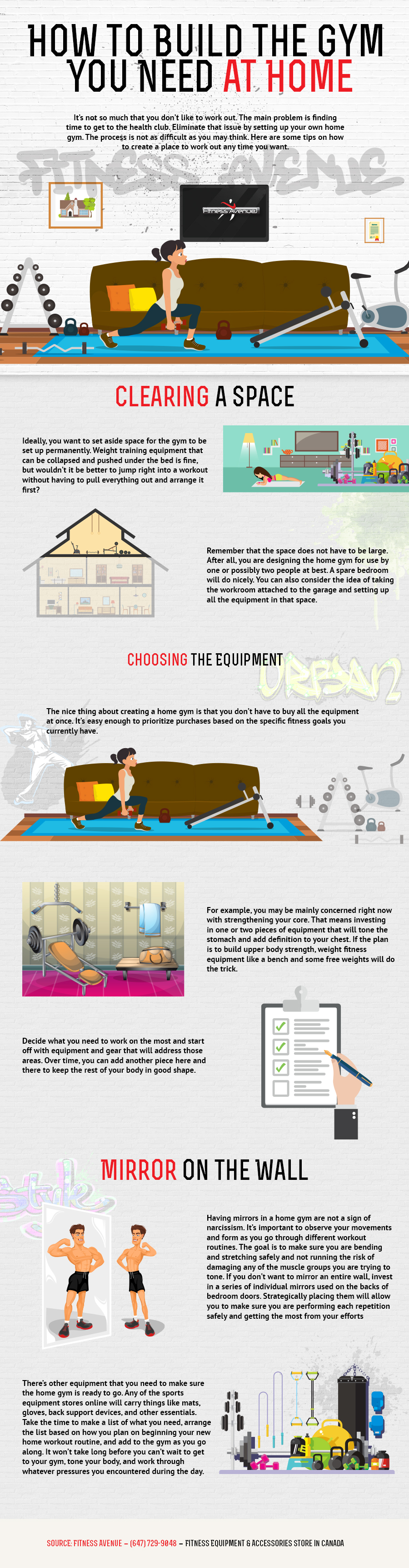 How to Build a Home Gym from Scratch: It's Easier Than You Thought! - Infographic