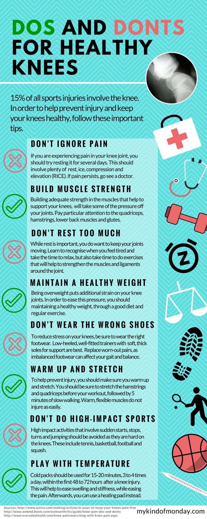 How to Protect Your Knees and Strengthen Them: Correcting Misconceptions - Infographic