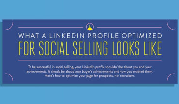 Make Your LinkedIn Profile Work for Social Selling - Infographic
