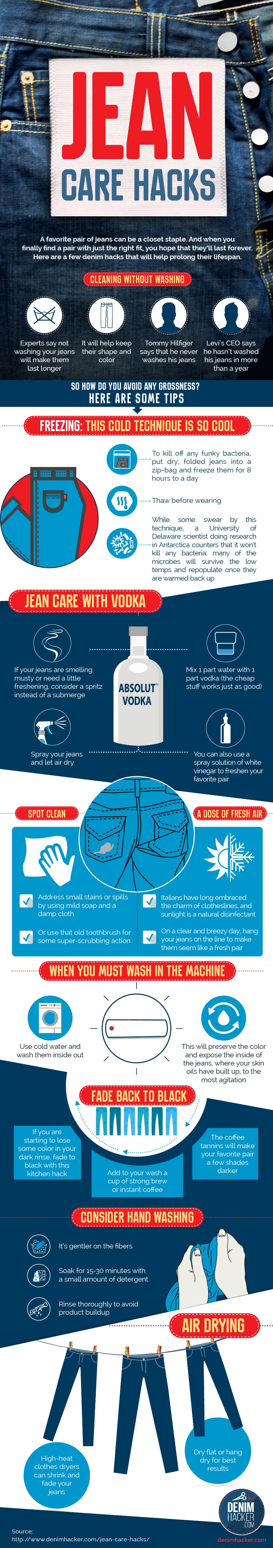 No-Wash Jean Care Tricks - Infographic