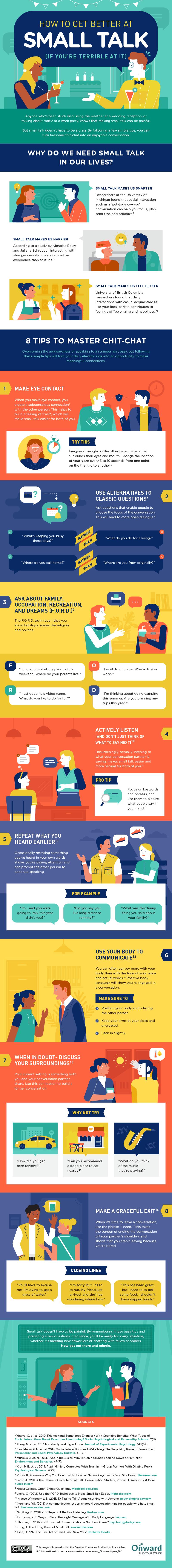 Small Talk is Good for Your Brain: How to Build and Master Small Talk Skills - Infographic