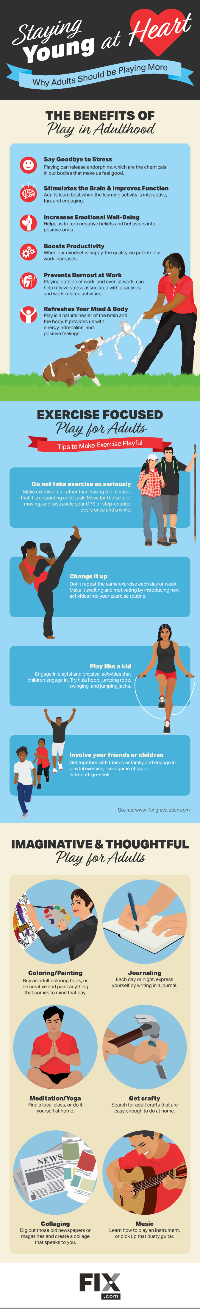 Play Young Stay Young: Why Adults Should Bring Back Playtime - Infographic
