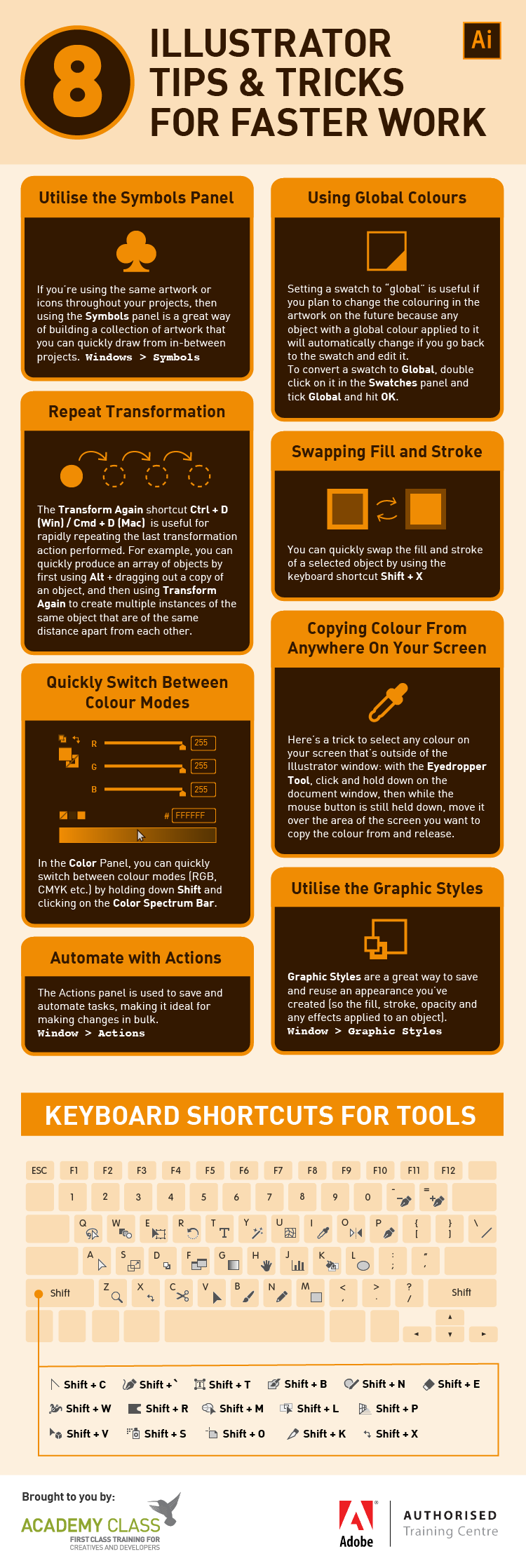 Adobe Illustrator Magic: 8 Amazing Tips and Tricks - Infographic