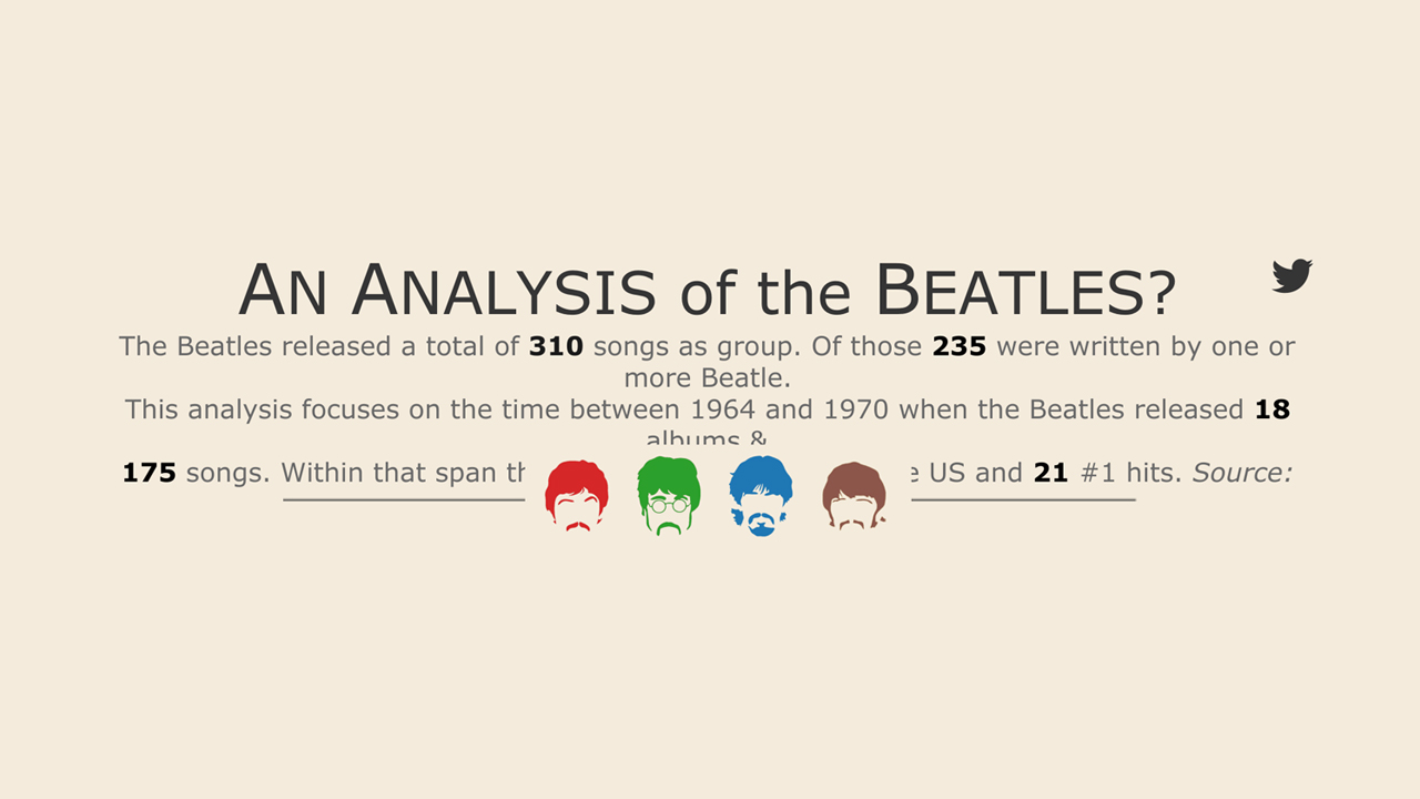 The Beatles: A Fresh Analysis of Old, Much-Loved, Always-Awesome Songs - Infographic