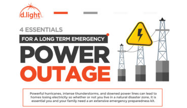 4 Essentials for A Long Term Emergency Power Outage - Infographic