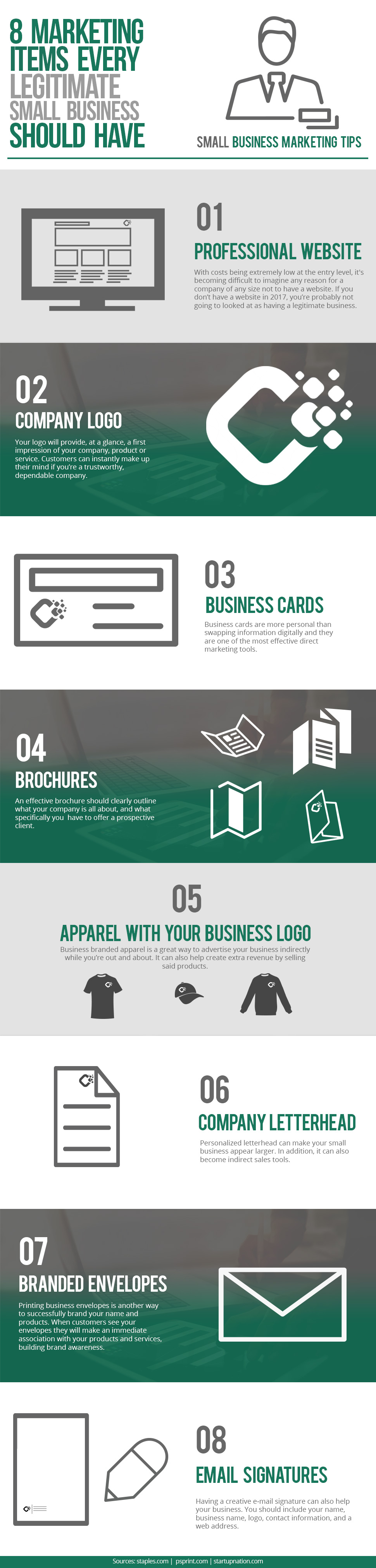 8 Marketing Items that Are Key to Building Positive Impressions of Your Company - Infographic