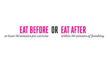 How to Eat Smart Before and After a Workout - Infographic